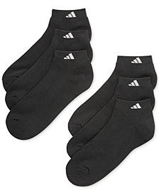 adidas Men's Cushioned Athletic 6-Pack Low Cut Socks