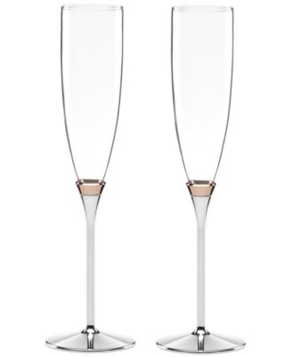 Rosy Glow Toasting Flute Pair