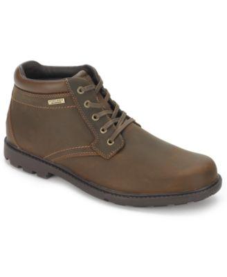 Amazing Rockport Menu0027s Rugged Bucs H20 Waterproof Plain Toe Boots