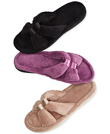 Isotoner Micro-Terry Satin Slide Slipper