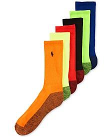 Men's Athletic Celebrity Crew Socks 6-Pack