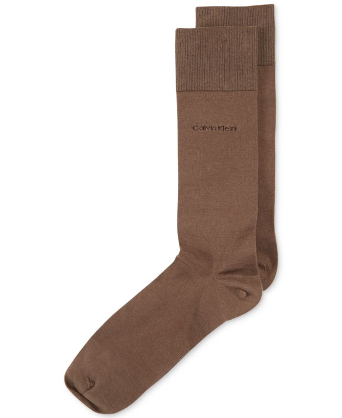 Calvin Klein Men's Giza Cotton Flat Knit Crew Socks & Reviews - Underwear & Socks - Men - Macy's