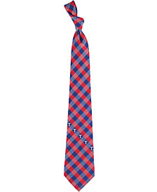 Eagles Wings Texas Rangers Checked Tie