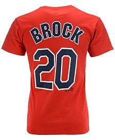 Majestic Men's Short-Sleeve Lou Brock St. Louis Cardinals Cooperstown Player T-Shirt