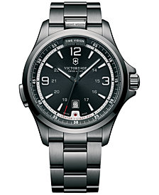 Victorinox Swiss Army Men's Night Vision Black Ice PVD-Finished Stainless Steel Bracelet Watch 42mm 241665 - First at Macy's!