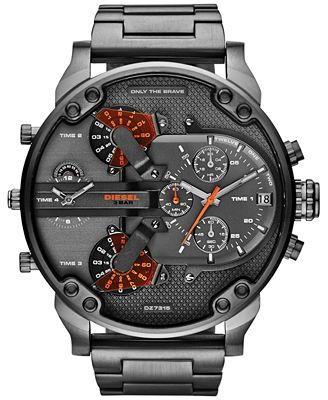 $231.32 Diesel Men's Mr Daddy 2.0 Gunmetal Watch