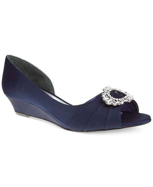 d30b6d97e6f Nina Rivka d Orsay Evening Wedges   Reviews - Flats - Shoes - Macy s