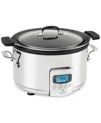 All Clad 4 Qt Slow Cooker With Black Ceramic Insert