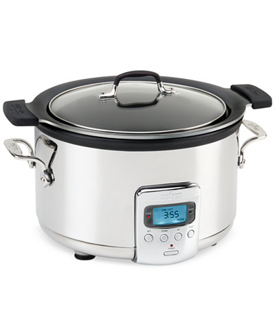All-Clad 4 QT. Slow Cooker with Black Ceramic Insert