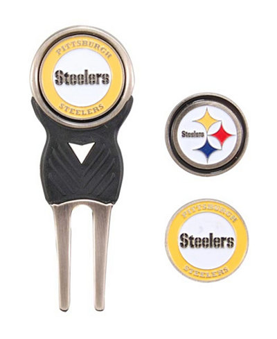 Team Golf Pittsburgh Steelers Divot Tool and Markers Set