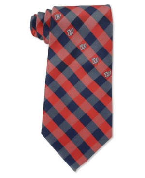 Washington Nationals Checked Tie