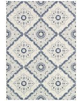 Couristan Indoor/Outdoor Area Rugs, Dolce 4077/6025 Brindisi Ivory-Grey