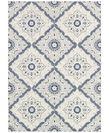 "Couristan Indoor/Outdoor Runner Rug, Dolce 4077/6025 Brindisi Ivory-Grey 2'3"" x 7'10"""