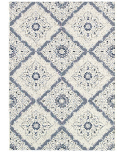 Couristan Indoor/Outdoor Runner Rug, Dolce 4077/6025 Brindisi Ivory-Grey 2'3