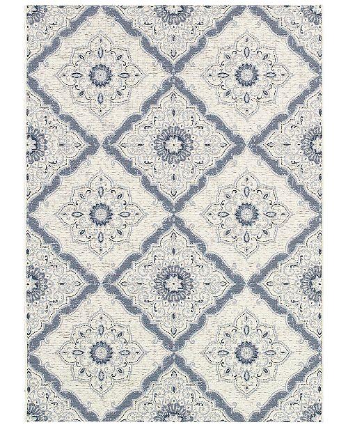 "Couristan Indoor/Outdoor Area Rug, Dolce 4077/6025 Brindisi Ivory-Grey 8'1"" x 11'2"""