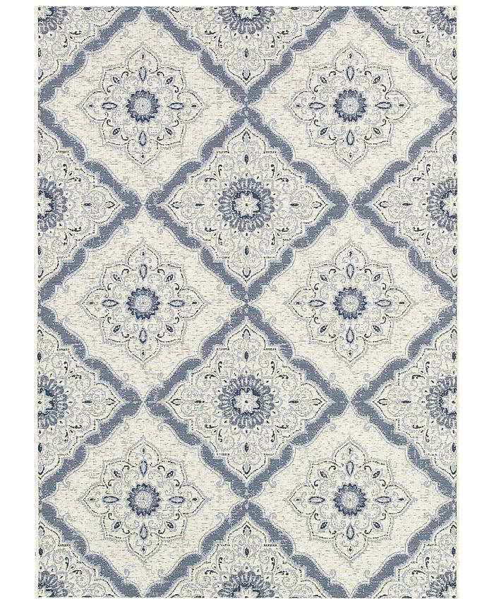 Couristan - Indoor/Outdoor Area Rugs, Dolce 4077/6025 Brindisi Ivory-Grey