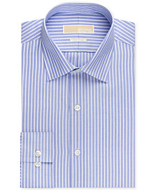 MICHAEL Michael Kors Men's Classic-Fit Non-Iron New Blue Stripe Dress Shirt