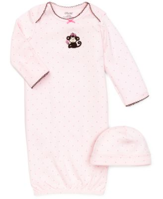 Baby Girls Polka-Dot Cap & Gown Set