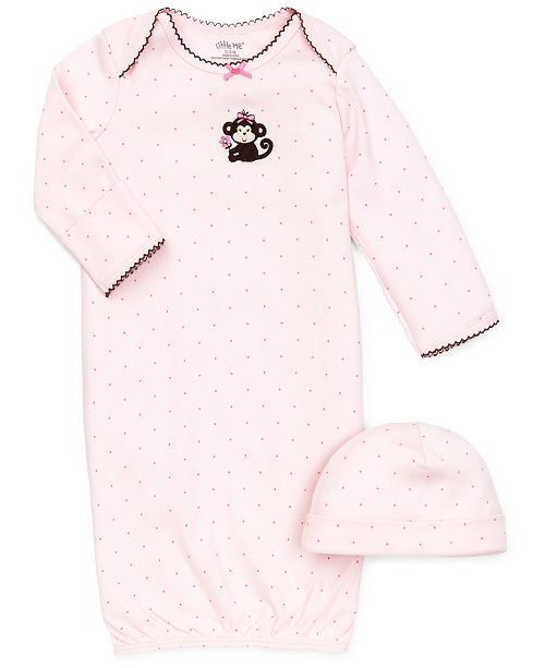 Little Me Baby Girls Polka-Dot Cap & Gown Set - Sets & Outfits ...