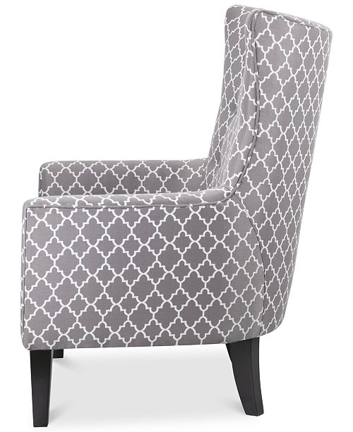 Jla Home Brie Printed Fabric Accent Chair Quick Ship