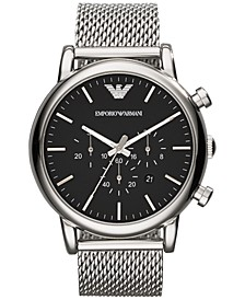 Men's Chronograph Stainless Steel Mesh Bracelet Watch 46mm AR1808