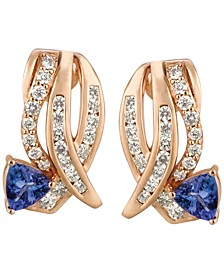 Tanzanite (3/4 ct. t.w.) and Diamond (3/4 ct. t.w.) Earrings in 14k Rose Gold