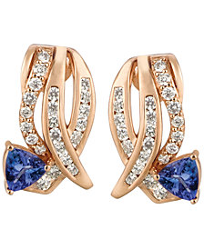 Le Vian Tanzanite (3/4 ct. t.w.) and Diamond (3/4 ct. t.w.) Earrings in 14k Rose Gold