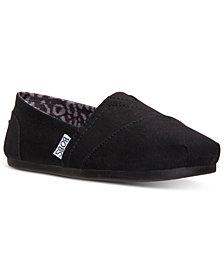 Skechers Women's Bobs Peace & Love Plush Memory Foam Casual Flats from Finish Line
