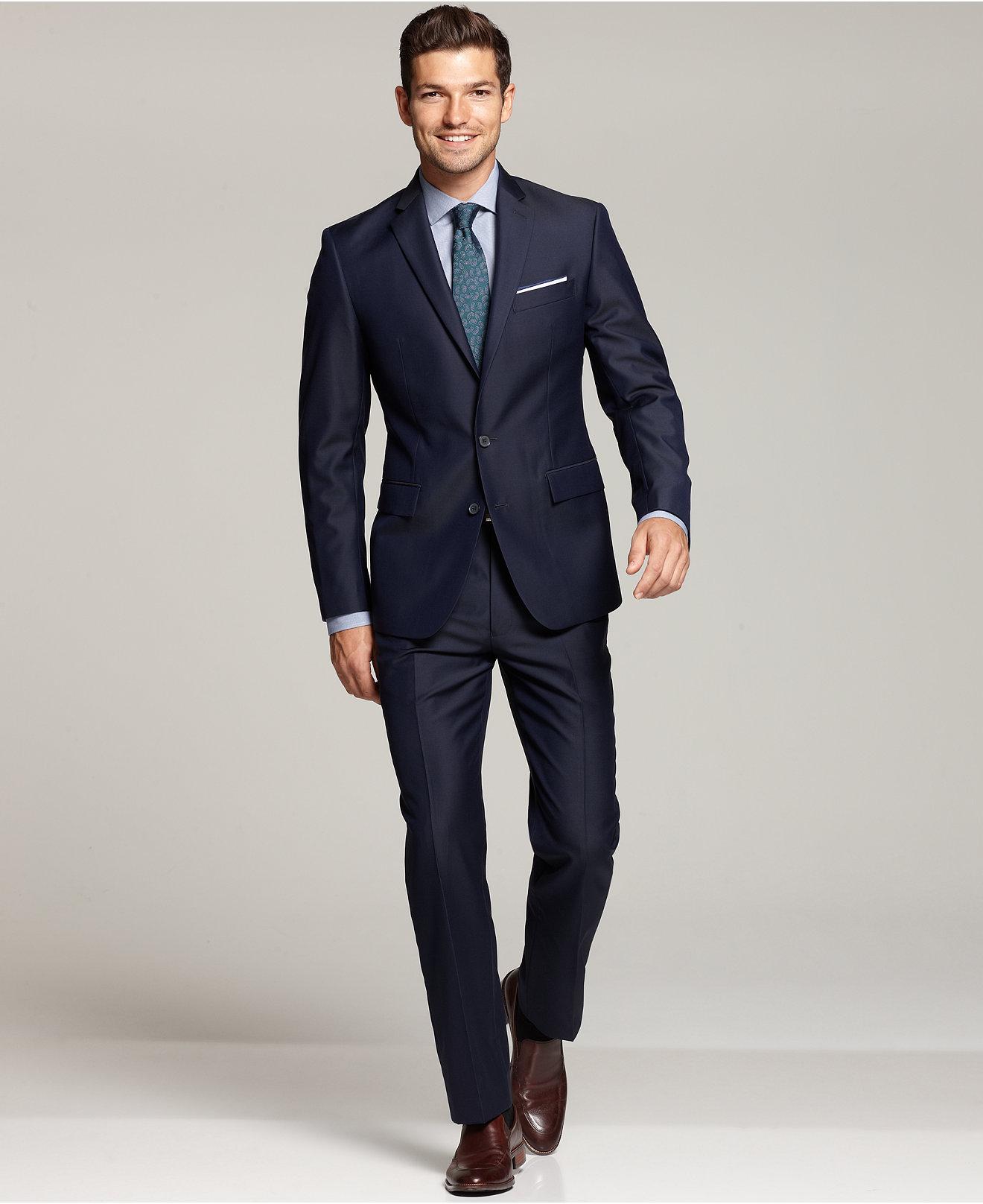 Mens Suits: Blue, Black, Gray - Mens Apparel - Macy's