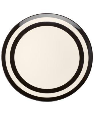 Black Stripe Melamine Dinner Plate