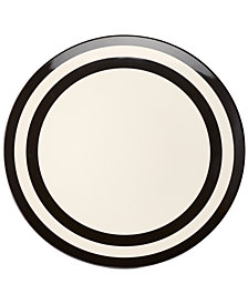 kate spade new york Black Stripe Melamine Dinner Plate