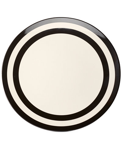 kate spade new york Black Stripe Melamine Dinner Plate