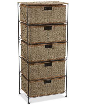 Household Essentials Seagrass 5 Drawer Storage Chest 1709121