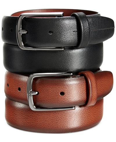 Perry Ellis Mens Park Avenue Leather Belt