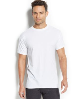 Image of Hanes Men's X-Temp Crew-Neck T-Shirt 5-Pack + 1 extra bonus Undershirt