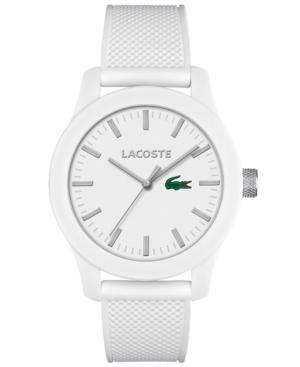 Lacoste Men's L.12.12 White Silicone Strap Watch 43mm 2010762