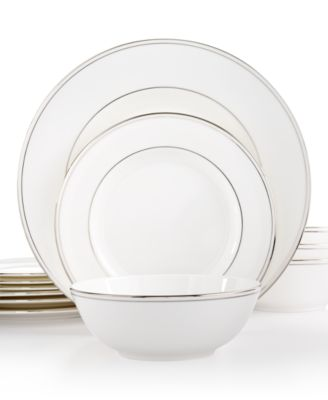 Federal Platinum 12-Pc. Dinnerware Set Service for 4 Created for Macyu0027s  sc 1 st  Macyu0027s & Lenox Federal Platinum Dinnerware Collection - Fine China - Macyu0027s