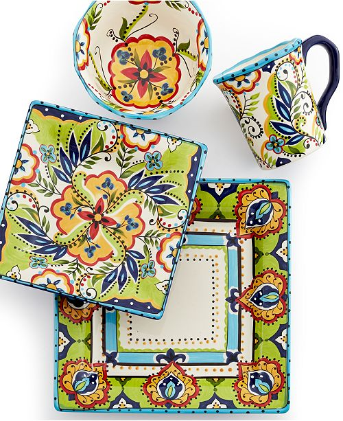 Espana Bocca Square 4-Piece Place Setting