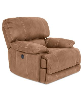 Jedd Fabric Power Recliner Chair, Created for Macy's