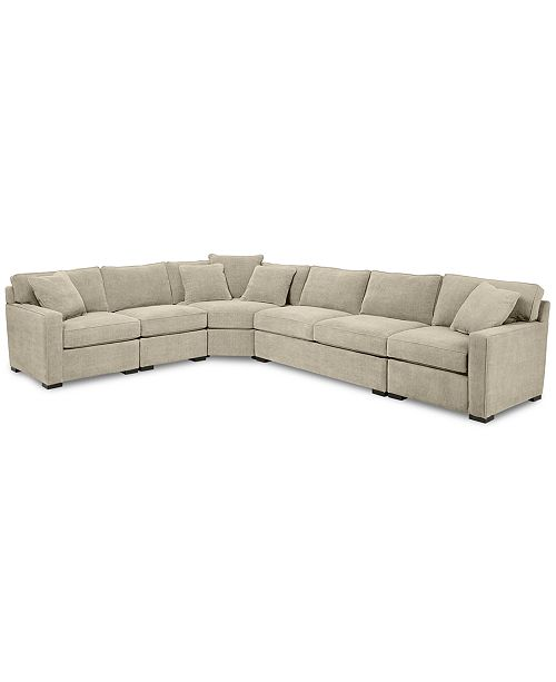 radley 5 piece fabric sectional sofa created for macy s