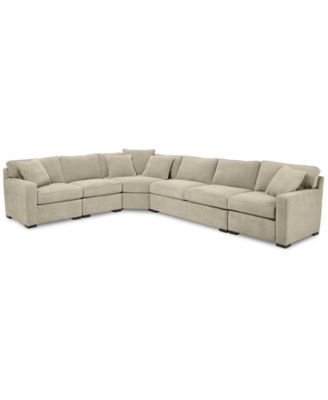 radley 5piece fabric sectional sofa with apartment sofa created for macyu0027s