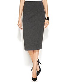 Petite Ponté-Knit Pencil Skirt