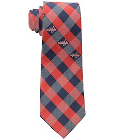 Eagles Wings Washington Capitals Checked Tie