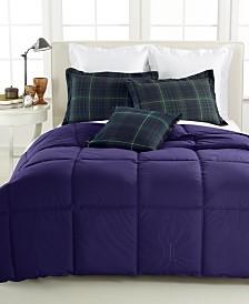 Lauren Ralph Lauren Color Down Alternative Twin/Twin XL Comforter, 100% Cotton Cover