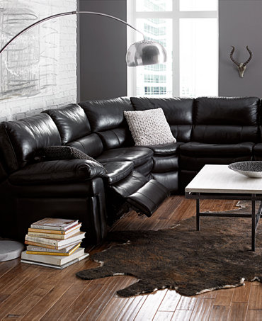Xander leather sectional power motion collection for Xander sectional sofa