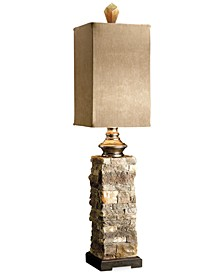 Andean Layered Stone Buffet Table Lamp