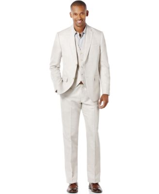 Men's Big and Tall Linen Blend Vest