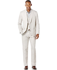 Perry Ellis Men's Big and Tall Linen Blend Suit Separates