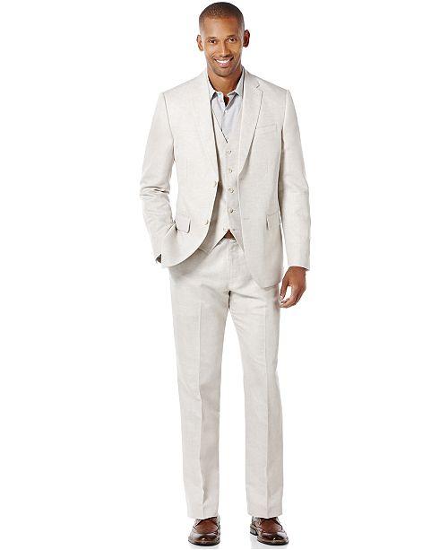 Perry Ellis Men's Big and Tall Linen Blend Suit Separates