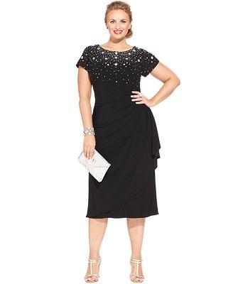 alex evenings plus size dress macys - discount evening dresses